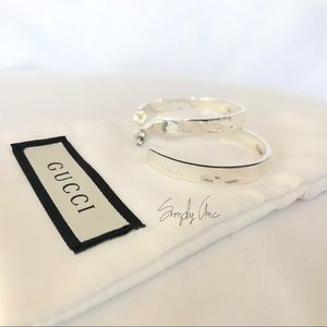 91d97ebbc09 Gucci Jewelry - New authentic GUCCI G cutout Hoop Earrings Silver